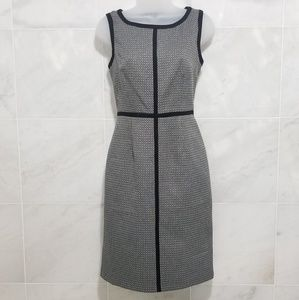 9&CO Black and White Career Dress shift Grey